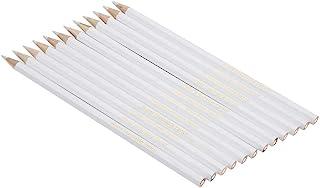 HEEPDD naaimarkerer, potlood, 12 stuks, wit water oplosbaar, potlood, naaien, stof, naaiwerk, handig gereedschap voor het ...