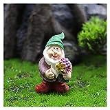 MItrilifi Accessories FEENGARTEN ZUBEHÖR Sammlerfiguren Miniatur Gartenzwerge Figuren Orente betrunke Zwerge Zwerg Charakter Moss Micro Landschaft (Color : C)