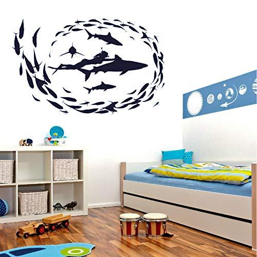 Flower Surfboard Vinyl Wall Decal La vida es mejor en la playa Wall Decal Sea Beach Theme Decoración para el hogar Surfing Lover Gift 104x42cm