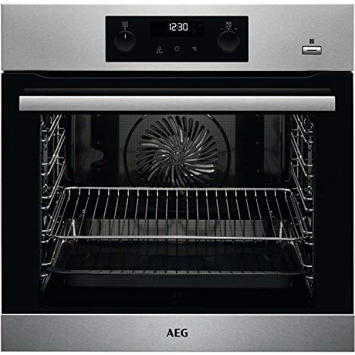 512KJF42nnL. SS500  - AEG BPS355020M Pyrolytic Self Cleaning SteamBake Single Oven - Stainless Steel