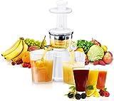 Exido 12230009, Slow Juicer, Profi Entsafter,einfach frischen Frucht-Saft genießen, Weiß