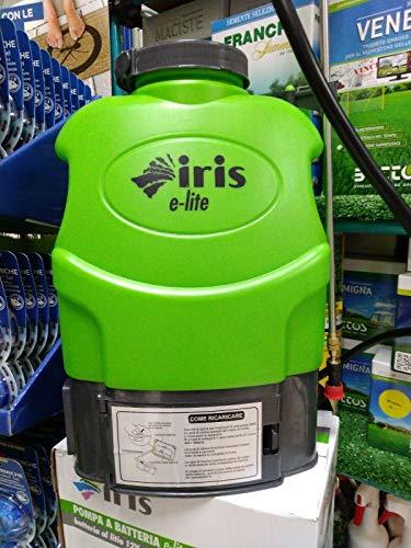Pompa irroratrice a batteria litio Iris Garden E-Lite 16 lt a spalla autonomia 5 h