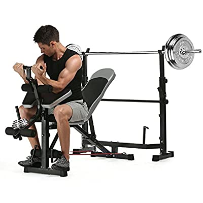 Greenhow Fitness Olympic weight bench with rack and leg extension from Greenhow