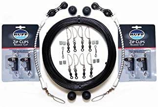 Rupp Outrigger Complete Rigging Kits - Double Rigging Kit w/Zip Clips - Black Mono