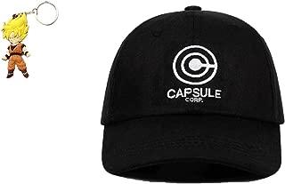 Geek Gear Dragon Ball Z Hat Capsule Corp Men Japanese Anime Adjustable Snapback Dad Baseball Cap Free Keychain