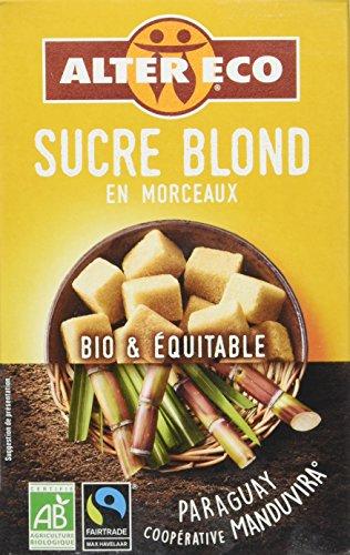 Alter Eco Sucre Blond Pure Canne en Morceaux Bio et Equitable 500 g - Lot de 3