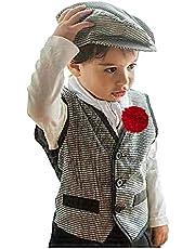 Gojoy Shop - Disfraz de chulapo madrileño para niño, contiene: camiseta, chaleco, pantalon, parpusa, pañuelo y clavel. (7 tallas diferentes.)