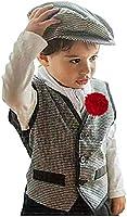 Gojoy Shop - Disfraz de chulapo madrileño para niño, contiene: camiseta, chaleco, pantalon, parpusa, pañuelo y clavel....