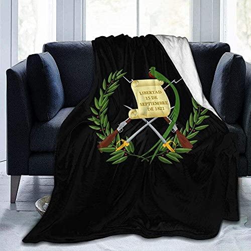Manta de Tiro con símbolo de la Bandera de Guatemala, Manta de Microfibra Ultra Suave, súper Suave para Cama, sofá, Sala de Estar