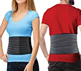 Hernia Belt for Men and Women - Abdominal Binder for Umbilical Hernias & Navel Belly Button Hernias with Compression Pad for Hernia Support and Stomach Hernia Brace Pain Relief (XXL - (49' to 62'))