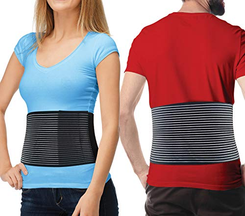 Hernia Belt for Men and Women - Abdominal Binder for Umbilical Hernias & Navel Belly Button Hernias with Compression Pad for Hernia Support and Stomach Hernia Brace Pain Relief (L/XL)