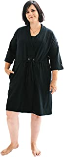 Surgical Recovery Robe with Internal Pockets for Post-Operative Drain Holder and Breast Cancer/Mastectomy Recovery