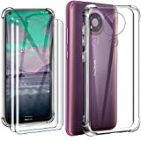 HYMY Case + 2 x Tempered Film for NOKIA 3.4 Cover -