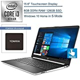 2020 HP 15.6' Touchscreen Laptop Computer/ 10th Gen Intel Core i3 1005G1 Up to 3.4GHz (Beats i5-7200u)/ 8GB DDR4 RAM/ 128GB SSD/ 802.11ac WiFi/ HDMI/ Windows 10 Home in S, YZAKKA Mouse Pad