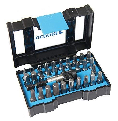 """GEDORE 666-032-J Bit-Box speziell für Industriebtriebe / 32tlg / 1/4\""""-Bit-Halter mit Schnellspannsystem"""