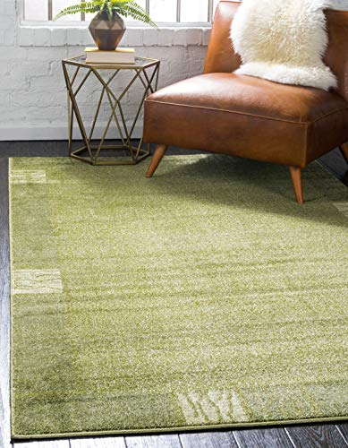 Unique Loom Del Mar Collection Contemporary Transitional Light Green Area Rug (2' x 3')