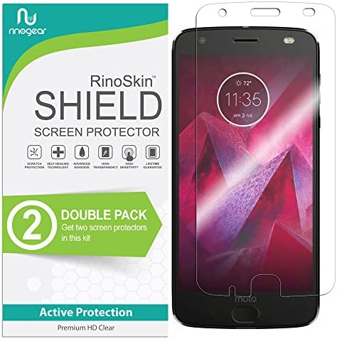 2 Pack RinoGear Screen Protector for Motorola Moto Z2 Force Edition Case Friendly Motorola Moto product image