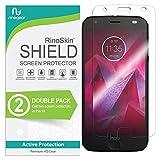 (2-Pack) RinoGear Screen Protector for Motorola Moto Z2 Force Edition Case Friendly Motorola Moto Z2 Force Edition Screen Protector Accessory Full Coverage Clear Film