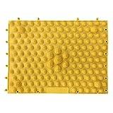 HEART 足 マッサージシート 足裏を刺激する!足つぼ フットマッサージ マット (H-102) (黄色)