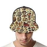Unisex Gorra de béisbol popular seta Collage Snapback Bill Hip Hop Sombreros Trucker Sombrero para hombres mujeres negro