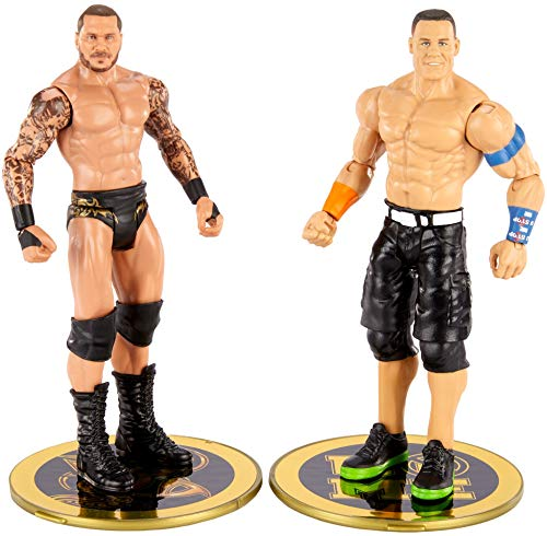 WWE John Cena vs Randy Orton Championship Showdown 2 Pack 6 in Action Figures Friday Night Smackdown Battle Pack for Ages 6 Years Old and Up