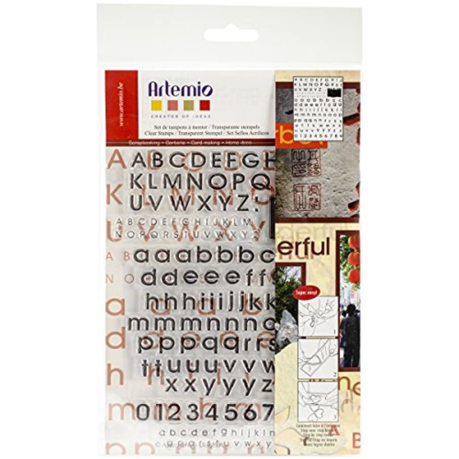 Artemio Clear Stamps, 5.9 by 8.7-Inch, Alphabet