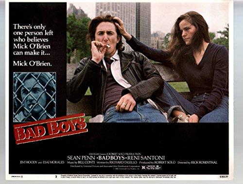 MOVIE POSTER: Bad Boys- Sean Penn-Ally Sheedy-11x14-Color-Lobby Card