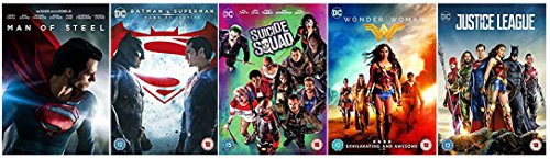 DC Extended Universe Movie Collection - Man of Steel / Batman V Superman: Dawn of Justice / Suicide Squad / Wonder Woman / Justice League