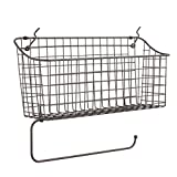 Spectrum Diversified Pegboard/Wall Mount Basket and Paper Towel Holder, 15 in (w, Industrial Gray
