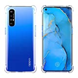 FUNMAX+ Oppo Find X2 Neo 5G Case, Crystal Clear Cover