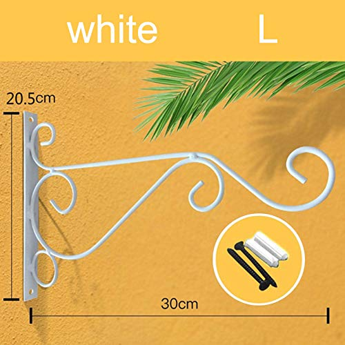 YZCH Hanging Planter,Wall-Mounted Flower Hanging Hooks Holder Plant Flower Pot Basket Bracket Decoration for Garden