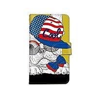 [bodenbaum] ZenFone 4 ZE554KL 手帳型 スマホケース カード ミラー スマホ ケース カバー ケータイ 携帯 ASUS エイスース ゼンフォン フォー SIMフリー 犬 フレンチブルドッグ パグ アメリカン d-192 (D.イエロー)