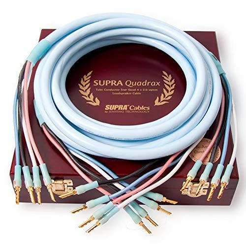 Supra Cables Quadrax luidsprekerkabel 4 x 2.0 Bi-Amp CombiCon krimp, 2.00m