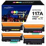 (con Chip) GPC Image 117A Cartucho de Tóner Compatible para HP 117A para HP Color Laser MFP-178nwg-179fwg-178nw-179fnw Color Laser 150a-150nw-150w (W2070A W2071A W2072A W2073A, 4 Pack)