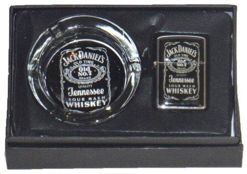 Jack Daniels - Juego de mechero de gasolinera y cenicero