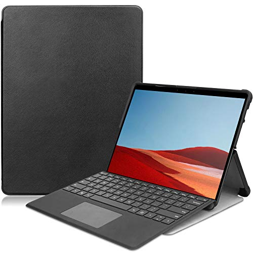 ProCase for Surface Pro X Case, Slim Light Smart Cover Hard Shell for Microsoft Surface Pro X 2019 Release -Black