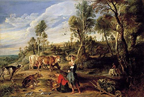 BWHome Besonderes Geschenk DIY digitales ölgemälde set Rubens Berühmte Gemälde