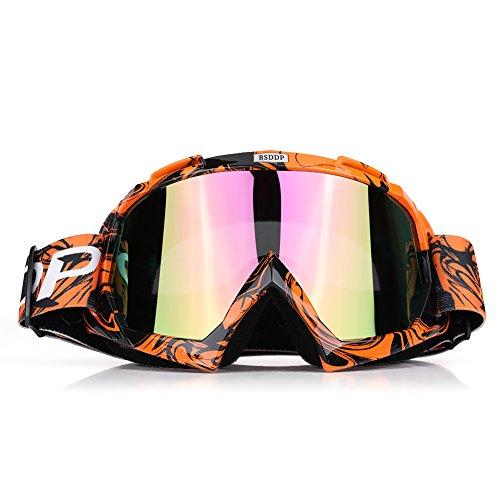 Qiilu Dirt Bike Occhiali da Sole di Protezione Maschera Occhialoni per Attività Esterna Motocicletta