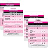 Immunization (Vaccination) Schedule Vertical Badge Cards - Excellent Resource for Nurses, Nursing Clinicals, and RN Students - Great Nursing School Supplies and Accessories