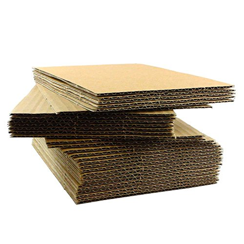 "100 EcoSwift 8.5x11 Corrugated Cardboard Filler Inserts Sheet Pads 1/16"" Thick 8.5 x 11"