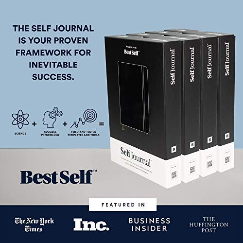 SELF Journal by BestSelf — Undated 13-Week Planning, Productivity and Positivity System for Max Achievement and Goal Success — Track Gratitude, Habits and Goals Daily and Weekly (Black)