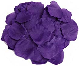 EMAXELER [Broken Girls Flowers]1000pcs Blue Purple Silk Rose Flower Petals for Wedding Table Confetti Bridal Party Flower Girl Decoration 1000pcs Blue Purple