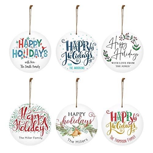 Janly Clearance Sale Decoración del hogar, 6 piezas personalizadas Celebrate Happy Madera Colgante Decoración Festival, para Navidad Hogar y Jardín, (Multicolor)
