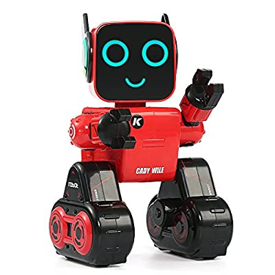 Hi-Tech Wireless Interactive Robot RC Robot Toy for Boys, Girls, Kids, Children (Red)