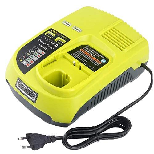 12v-18v Chargeur De Batterie Rechargeable Universelle Pour Ryobi P100 P102 P108 P117 P118 Avec Ports Usb Outils De Charge Rapide