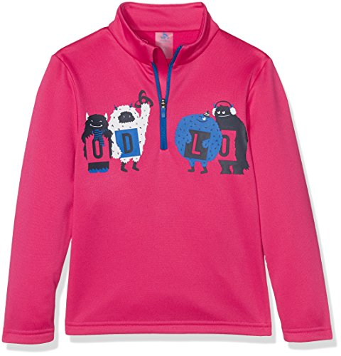 Odlo Kinder Midlayer 1/2 Zip Harbin Kids Pullover Und Sweatshirt, Beetroot Purple with Print Fw17, 116