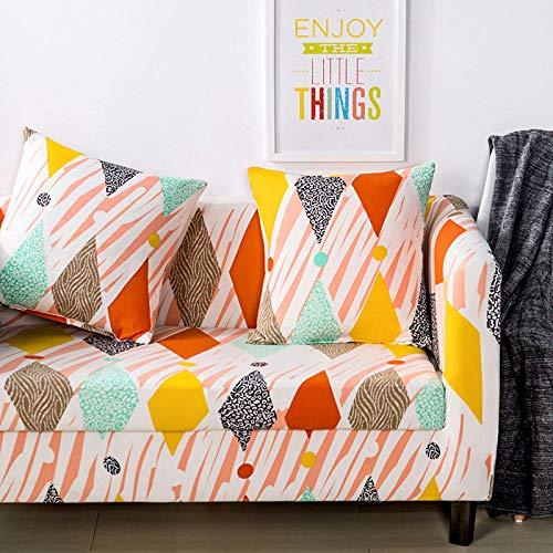 Allenger Funda de sofá de Alta Elasticidad,Funda de sofá con Estampado elástico, Funda de sofá con Todo Incluido, Protector de sofá-D3_90-140cm
