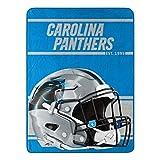 Northwest NFL Carolina Panthers 46x60 Micro Raschel Run Design Rolled Blanket, Team Colors, One Size (1NFL059050018RET)