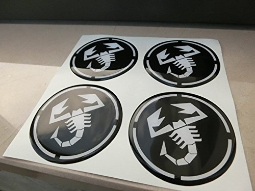 60 mm schwarz Tuning Effekt 3D geharzt Radkappen Nieten Caps Aufkleber Stickers für Alufelgen X 4 Stück