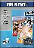 PPD Inkjet - A3 x 100 Hojas de Papel Fotográfico Brillante 180 g/m² - Secado Instantáneo - Calidad Profesional - Para Impresoras de Inyección de Tinta - PPD-41-100